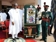 President Buhari turned 74 years old today. He inspected a guard of honor at the state house this morning as well as cut his birthday cake. Happy birthday to him. See more photos after the cut...