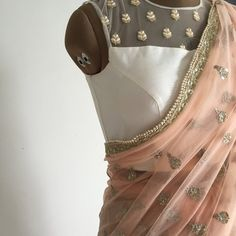 The Peach Mogra Sari {NEW ARRIVALS} The Sheer Saba Blouse X The Peach Mogra Sari