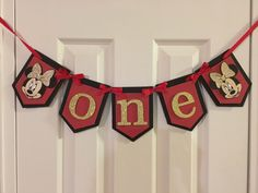 A personal favorite from my Etsy shop https://www.etsy.com/listing/470490990/minnie-mouse-one-highchair-birthday