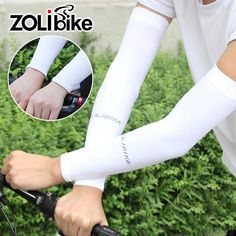 Men Cycling Equipment Gloves Bicycle Cooldry Cuffs Breathable UV Proof Bike Long Sleeves Gloves Product Arm Sunscreen Cuffs