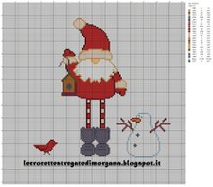 Santa Claus embroidery by Crocette stregate Xmas Cross Stitch, Cross Stitch Needles, Cross Stitch Charts, Cross Stitch Designs, Cross Stitching, Cross Stitch Embroidery, Embroidery Patterns, Hand Embroidery, Cross Stitch Patterns