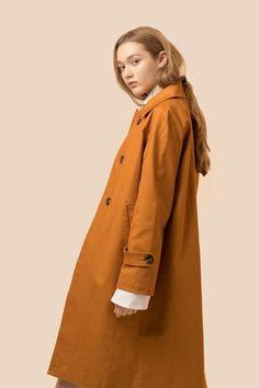 Oversized Camel Trench Coat