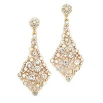 Iridescent gold crystal earrings