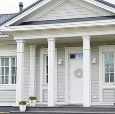 House Design, Exterior Paint Schemes, Hamptons House Exterior, Porch Columns, Paint Colors For Home, House Exterior, Hamptons House, House Designs Exterior, Exterior House Color