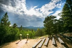 Colorado Mountain View Ceremony at Peaceful Valley Resort & Conference Center in Lyons, Colorado.
