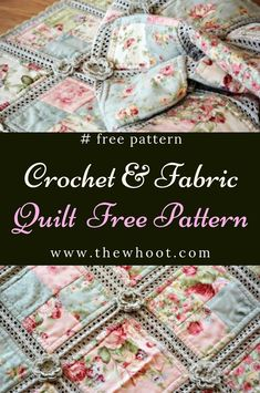 Crochet Flower Patterns Fabric Crochet Quilt Is The Project You've Been Looking For - This Fabric Crochet Quilt is beyond gorgeous and you will love to make it for a favourite space in your place. We've included a video tutorial to assist. Crochet Quilt Pattern, Crochet Fabric, Granny Square Crochet Pattern, Crochet Squares, Crochet Blanket Patterns, Diy Crochet, Crochet Crafts, Crochet Hooks, Crochet Projects