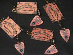 ouija board charms 005 by ronijj Ouija, Funky Jewelry, Jewelry Crafts, Jewelry Art, Metal Jewelry, Jewlery, Shrink Film, Shrink Art, Halloween Jewelry
