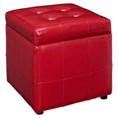 Modway Volt Storage Ottoman Red - EEI-1044-RED