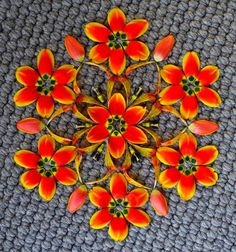 flower mandala by Kathy Klein