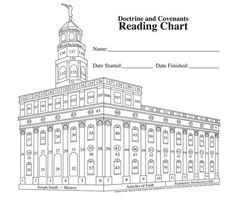 Doctrine and Covenants Nauvoo Temple reading chart