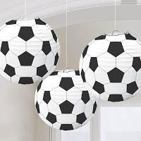 Set Of Three 9 Inch Soccer Ball Paper Lanterns – Fun Sports Theme Birthday & Team Party Decorations - New Deko Sites Soccer Birthday Parties, Sports Theme Birthday, Soccer Party, Sports Party, Soccer Ball, Birthday Pinata, Leo Birthday, Football Birthday, Soccer Decor