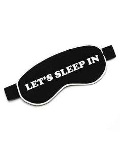 Lets Sleep in Eye Mask Black by Wildfox at Edith Hart www.edithhart.com