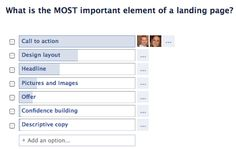 What is the MOST important element of a landing page? via www.optify.net