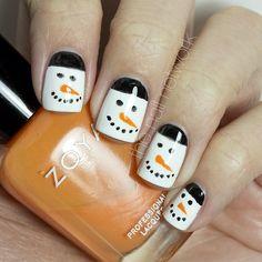 christmas snowman by thenailnetwork #nail #nails #nailart