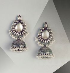 #silver #traditional #jhumkas #accessorise #women #fashion #earrings #jewellery #Fabindia