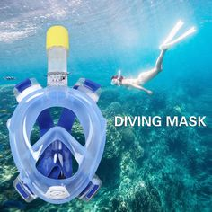 Diving Mask Underwater Scuba Anti Fog Full Face Diving Mask Snorkeling Set with Anti-skid Ring Snorkel 2016 New Arrival -- Offer can be found by clicking the VISIT button
