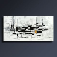 60 Ideas modern canvas art black white paintings for 2019 Modern Canvas Art, Modern Wall Art, Black And White Painting, Black White, Gold Wall Art, Winter Art Projects, Decoration, Photos, Etsy