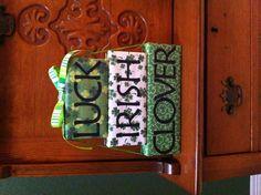 St Patrick's Day 3 tiered wooden blocks decoration I made. Original idea from etsy.com