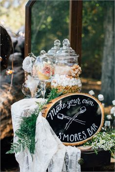 Woodland wedding ideas for the outdoorsy bride and groom. #weddingchicks Captured By:  Anika London http://www.weddingchicks.com/2014/07/11/woodland-wedding-where-shoes-are-optional/