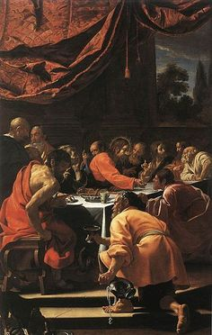 The Last Supper - Simon Vouet.  c.1615-20.  Oil on canvas.  Palazzo Apostolico, Loreto, Italy.