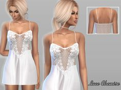 The Sims Resource: Lace Chemise by Pure Sim • Sims 4 Downloads