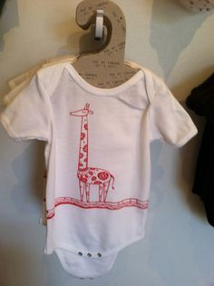 """The Organic """"Giraffe"""" Baby Onesie by Fed By Threads * Made In America * Feeding America * 12 Meals Fed To Hungry Americans per items sold!"""
