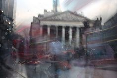 Financial district in motion, London. Photographic composition by Scott Kish