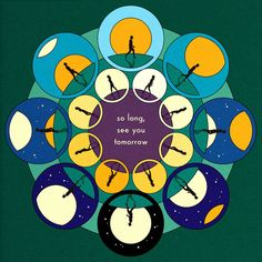 Design & Illustration by La Boca for Island Records - Bombay Bicycle Club: 'So Long, See You Tomorrow' Album cover art. Also functions as an animated packshot - Cool Album Covers, Album Cover Design, Music Covers, Indie Pop, Indie Music, Cover Art, Festivals, Alright Now, Pochette Album