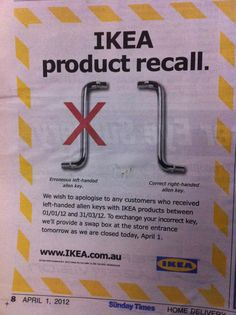 One of the best first April fools. Ikea