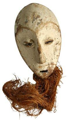 Mid-century African Mask w/ beard