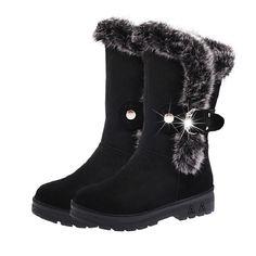 뜨거운 판매 겨울 여성 스노우 부츠 따뜻한 라운드 발가락 편안한 부츠 여성 모피 봉제 높은 품질 botas 보낸 도매 DVT630