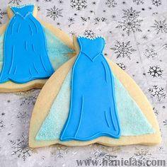 Disney Frozen Elsa dress cookies