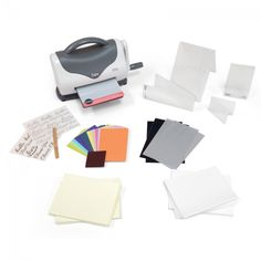 Sizzix Texture Boutique Embossing Machine Starter Kit (White & Gray)