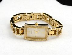 Guess Ladies Watch, Gold Tone Ladies Guess Watch, Vintage Guess Fashion Watch…