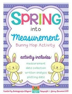 Imagine your class, spread out around the room engaged in authentic measurement practice. With this activity, your students get hands-on, fun measurement experience with a recording sheet that guides them through collecting and analyzing data. #Spring #Measurement | by Luckeyfrog