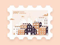 Stamp Design designed by Nugraha Jati Utama for Suarasa. the global community for designers and creative professionals. Poster Creator, Postage Stamp Design, Tumblr Stickers, Postcard Design, Illustrations, Journal Stickers, Printable Stickers, Vintage Postcards, Design Art