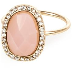 River Island Pink opal diamanté ring ($8.74) ❤ liked on Polyvore featuring jewelry, rings, pink jewelry, oval opal ring, river island, opal ring and pink opal ring