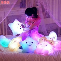 I like relaxing amidst my light up plush pillows, too.