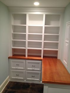 custom closet with shelves built in, yes please.  -The WoodShop, Inc (Beaufort, SC)