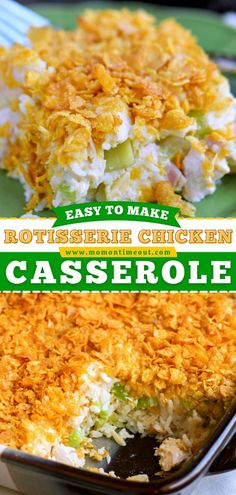 Your new favorite family dinner idea! Making this Chicken and Rice Casserole recipe is so easy. Check out other fun, delicious ways to customize this rotisserie chicken recipe so you can enjoy it… Rotisserie Chicken Casserole Recipe, Beef Casserole Recipes, Beef Recipes, Rice Casserole, Family Recipes, Italian Dinner Recipes, Easy Chicken Dinner Recipes, Delicious Dinner Recipes, Sweets