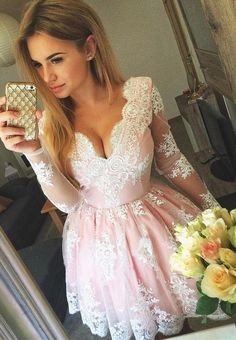 2017 homecoming dresses,lace homecoming dresses,pink homecoming dresses,short homecoming dresses