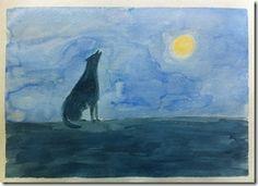 08 wolf mom painting