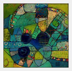 Elke Trittel acrylic,collage on board 30x30cm