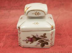 Vintage Rings and Things Floral Trinket BoxJewlery StorageRing Dish Made in Taiwan
