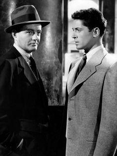 Robert Walker & Farley Granger in Alfred Hitchcock's Strangers on a Train (1951)