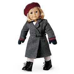 american girl doll winter coats | Kit's Winter Coat, shown with the Beret and Mittens (retired in 2013).