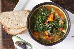 kale white bean quinoa soup
