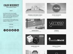 Colin McKinney portfolio website