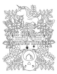 Swear Word Coloring Sheet Page Printable Dont Dck Download Book Curse Word Cuss Mature