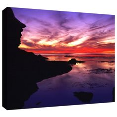 'Sunset Cliffs Twilight' by Dean Uhlinger Photographic Print Gallery-Wrapped on Canvas